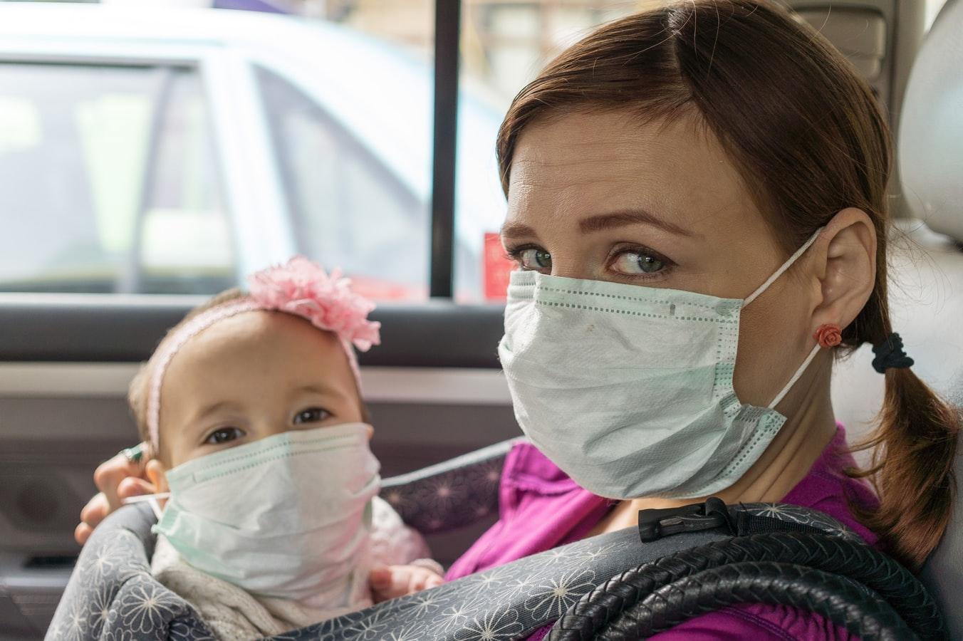 mask mother kid